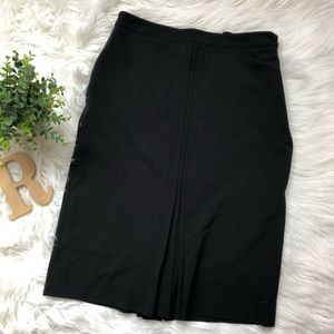 Apostrophe Essentials Black Pleated Pencil Skirt